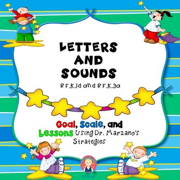 Letters and Sounds Lesson for Kindergarten {RF.K.1d, RF.K.3a}
