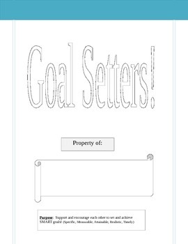 Goal Setters Club Booklet