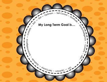Goal Setting Graphic Organizer: Set Character, Academic, P