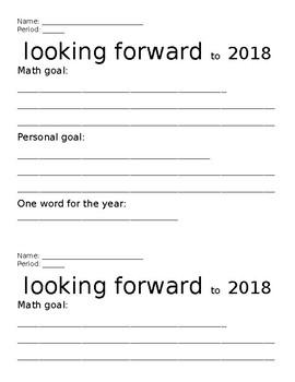 Goal Setting - 2018