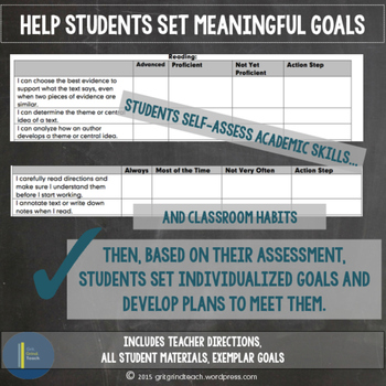 Goal Setting: Academic and Behavioral Self Assessment for Middle School ELA