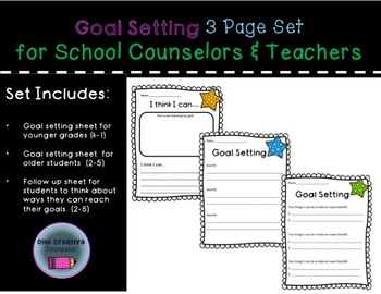 Goal Setting 3 Page Bundle