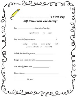 Goal-Setting Activity Pack for Back to School with Self Assessments