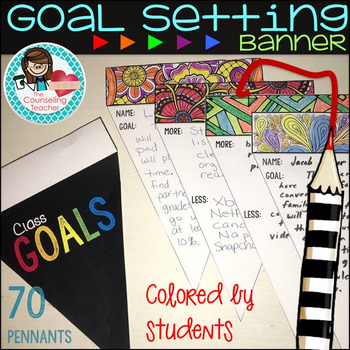 Goal Setting Banner By The Counseling Teacher Brandy