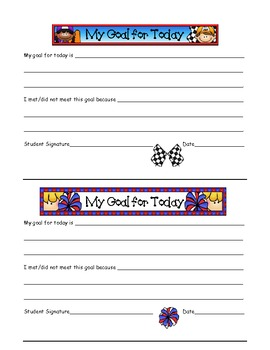 Goal Setting - Behavior Modification Pack