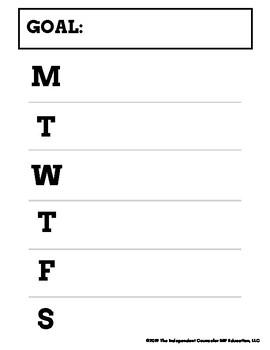 Goal Setting & Behavior Monitoring Data Tracking Sheets
