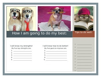 Goal Setting Brochure for Students