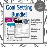 Goal Setting Bundle! (4 Pieces: Creating, Reviewing, and Reflecting Goals) 2020