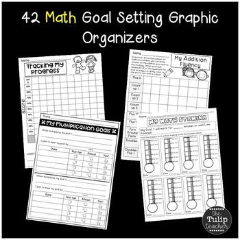 Goal Setting Bundle {Reading Goals, Writing Goals, Math Goals}