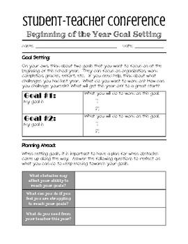 Goal Setting Bundle - Student-Teacher Conferences