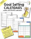 Goal Setting Calendars (FREEBIE)
