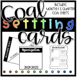 Goal Setting Cards 2021-2022 ( Target Square Labels)