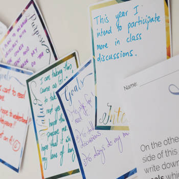 Goal Setting Cards (great for any subject or course)