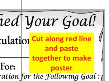 Goal Setting Certificate & Poster to Declare & Achieve Goals