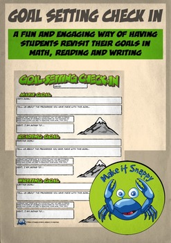 Goal Setting Check-in for Reading, Writing and Math