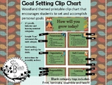 Goal Setting Clip Chart - Woodland Theme