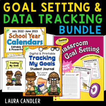 Goal Setting for Students Bundle with Data Tracking Journals