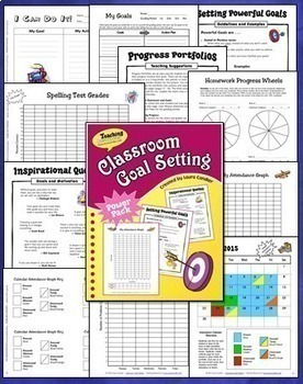 Goal Setting and Data Tracking Bundle (with Student Journals)