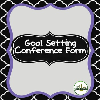 Goal Setting Conference Form