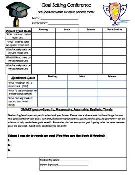 Goal Setting SMART Conference Sheet