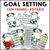 Goal Setting Cow Themed Common Core Writing and Math