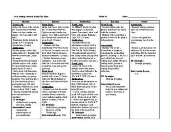 Goal Setting Daily PBL Plan