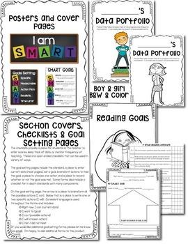 Goal Setting & Data Portfolio {First Grade}