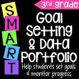 Goal Setting Data Portfolio or Data Notebook for Third Grade