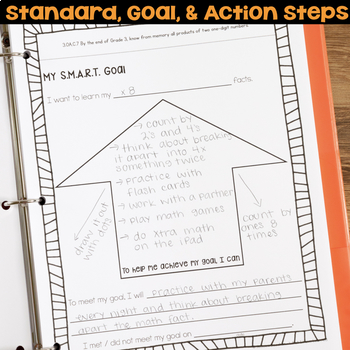 Goal Setting Data Portfolio or Data Notebook for Third Grade