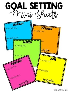 Goal Setting Data Sheets