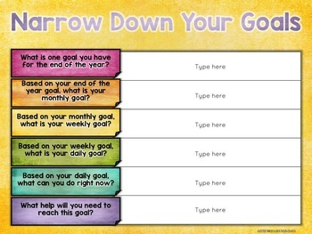 Growth Mindset Goal Setting, Data Tracking, and Reflection in a Google Classroom