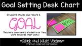 Goal Setting Desk Chart