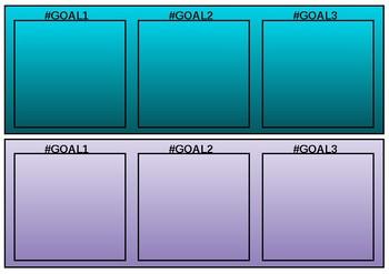 Goal Setting Desk Plates