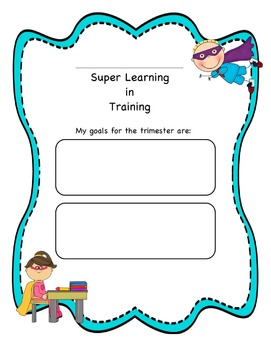 Superhero Goal Setting- Editable!