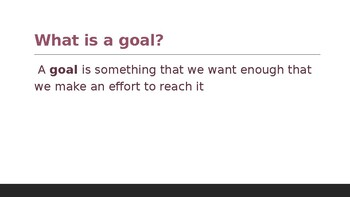 Goal Setting Examples PowerPoint