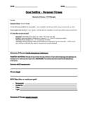Goal Setting - FITT, Elements of Fitness