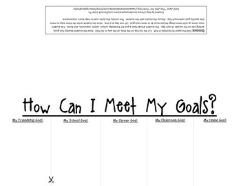Goal Setting Flip Book Printable