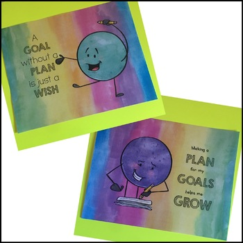 Goal Setting - Flipbook and Bookmarks