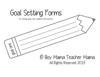 Goal Setting Form