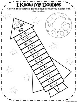 Goal Setting Forms, Math:  Outer Space Theme