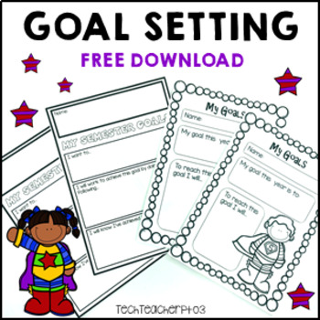 ** FREE DOWNLOAD ** Goal Setting Signs and Individual Goal Sheets