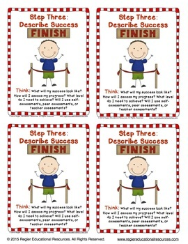 Goal Setting For Students FREEBIE: Posters, Trading Cards, and Bookmarks