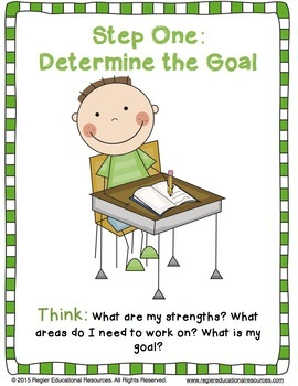 Goal Setting For Students | Assessment | Reflection | Posters | FREEBIE