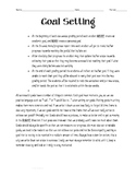 Goal Setting-- Full Assignment
