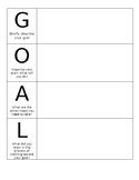Goal Setting Graphic Organizer