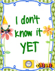 Goal Setting -- Growth Mindset and Whole Brain Resources Garden Theme- Start Now