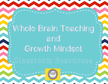Back to School Growth Mindset and Whole Brain Rainbow Theme Resources
