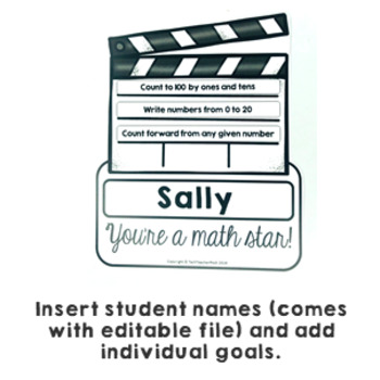 Goal Setting Hollywood Themed Common Core Writing and Math