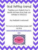 Goal Setting Journal for Testing