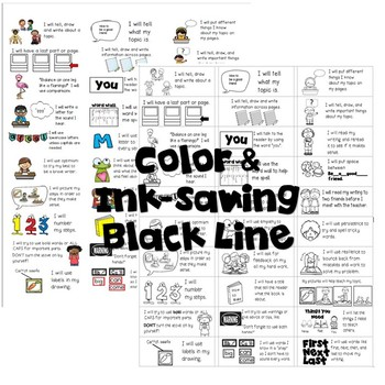 Goal-Setting Labels for Grade 2 Opinion Writers!  Color & Ink-saving BW!